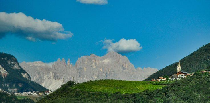Mountains Italy Train Ride Village Church