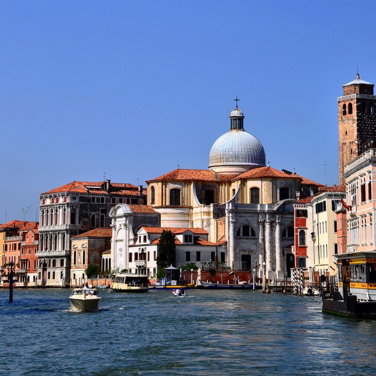 Canal of Venice with Italian architecture