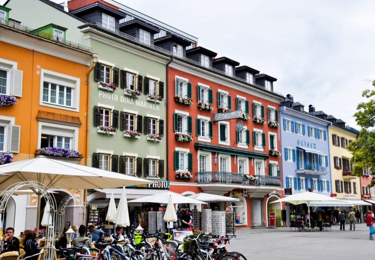 Lienz Austria Architecture Downtown Colorful European Buildings
