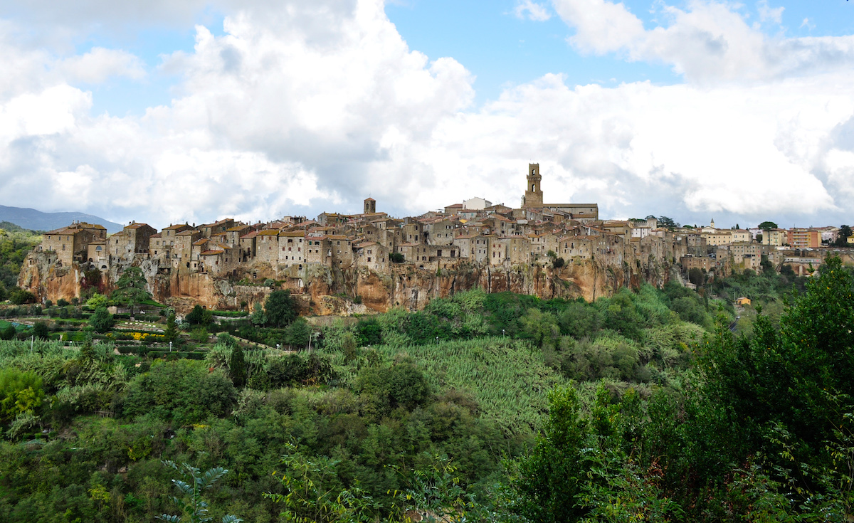 A view of the town of Pitigliano