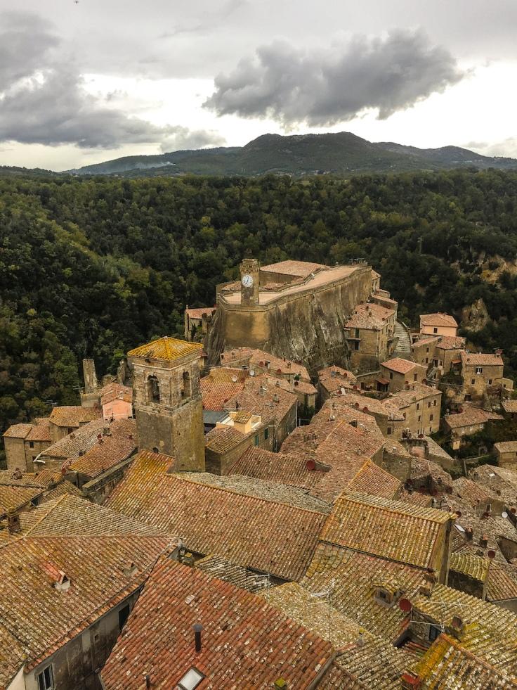 View of Sorano Italy