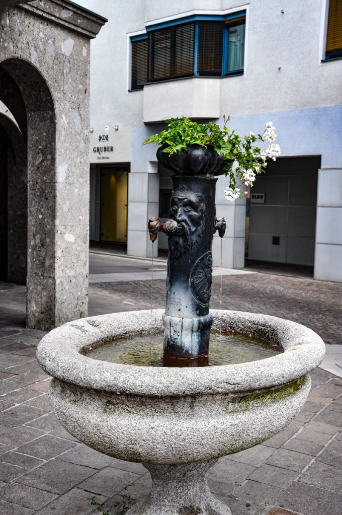 Center Lienz Austria Water Fountain
