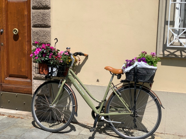 Italian Bike With Flowers