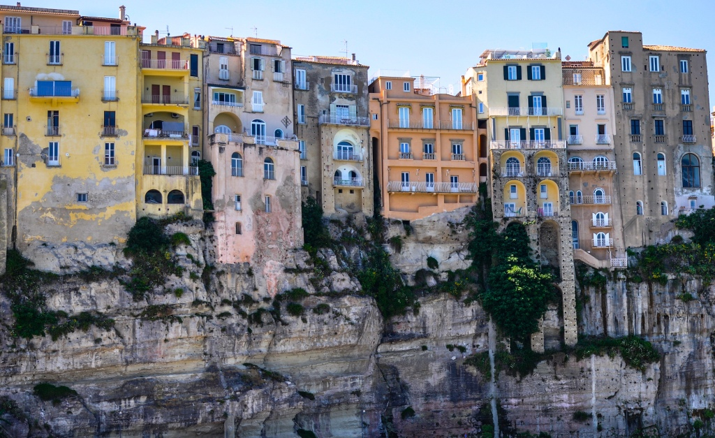 Cliffs of Tropea Italy-City View